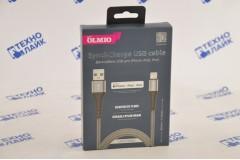Кабель MFI STRONG USB - Lightning, 1.2м, серый, нейлоновая оплётка, усиленные штекеры, OLMIO