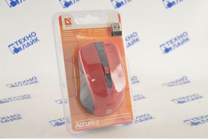 Defender Беспроводная оптическая мышь Accura MM-935 красный,4 кнопки,800-1600 dpi