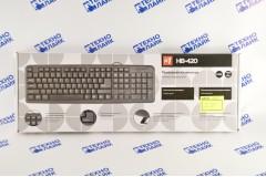 Проводная клавиатура Defender HB-420 RU, полноразмерная, 3 клавиши управления питанием, чёрный, USB