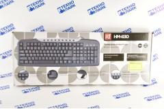 Проводная клавиатура Defender HM-830 RU, полноразмерная, 9 горячих клавиш, чёрный, USB